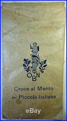 1667 Croce Al Merito Opera Nazionale Balilla azzurra modello piccolo argento