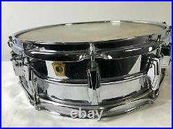 1965 Ludwig Chrome Snare Drum 14 Classic Chicago USA SN 256795