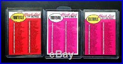 1969 Topps FOOTBALL COMPLETE SET EX-MT NM Unitas Namath Sayers Piccolo RC
