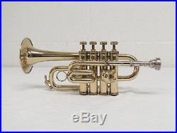 1974 Selmer 59 4 Valve Piccolo Trumpet With Leadpipe Case Paris France Instrument