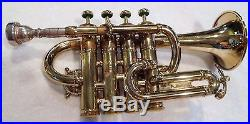 1983 LA Benge Piccolo Trumpet Clean and Straight Lacquered Horn