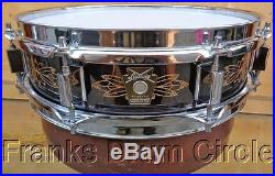 1991 Ludwig Limited Edition Hand Engraved Black Beauty 3x13 Piccolo Snare Drum