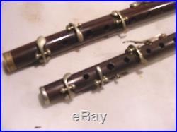 2 Vintage Antique Flutes Piccolo J. W. S. L Parade