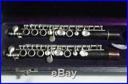 2 piccolos Bonneville en grenadille système Boehm de 1920