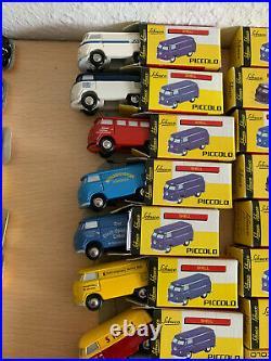 34x VW Bulli Piccolo Schuco Sammlung Modellautos Auflösung T1 T2 Bus Volkswagen