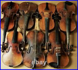 3X Full Size, 4Xslighlty Small Size Violins (Not Working)