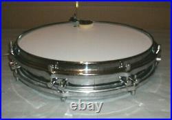 60's Sonor 2.5 x 14 Pancake/Skinny/Piccolo Metal Snare Drum 8 Lug Rogers Muffler
