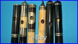 6 x old D piccolo flutes