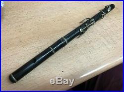 Ancien Piccolo flute en bois Laubé la couture boussey complet