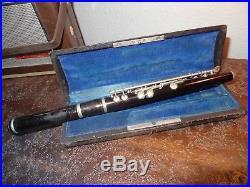 Ancienne flute piccolo en ébène Excelsior Lecomte Paris
