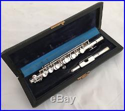Antike Henri Selmer Paris No. 3717 Französische Versilberte Piccolo Flöte in C