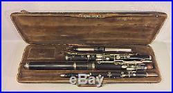 Antique J Gotzl Wien Wooden Flute / Piccolo Combinaton in Case Austria
