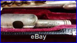 Antique P Gerard PARIS FRANCE SOLID 925 STERLING SILVER piccolo in velvet case