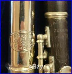 Antique Restored Handmade Adler Germany seamed tube flute & Adler wooden piccolo