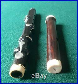 Antique Vintage Old Wooden 4 Key Irish Bb Flute Piccolo Henry Potter London
