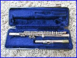 Armstrong Elkhart Piccolo 1814 & Case Silver