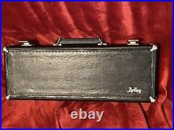Artley Model 4-0 Opened Hole Flute-Solid Silver With 15P Piccolo & Case