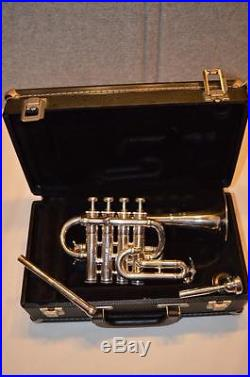 BENGE PROFESSIONAL PICCOLO TRUMPET 4 VALVE WITH Bb & A LEAD PIPES EX. COND
