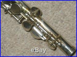 Beautiful, old piccolo flute Sante Barzan Adria Boehm system in orginal case