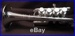 Benge Piccolo Trumpet Bb/A 2 Mouthpipes Original Case Resno Tempered Bell