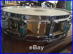 Brass Piccolo Snare 12 Lug 14 Inch Mint Condition SWEET
