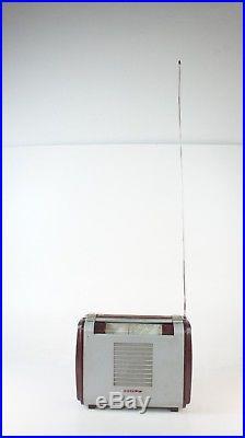Braun Super-Piccolo 51 tragbares Röhrenradio gecheckt Radio MW LW KW Design