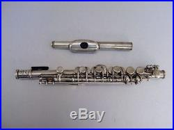 CHAPART PARIS PICCOLO FLUTE SILVER PLATED RARE 1900s ANTIQUE PLAYS BEAUTIFULLY