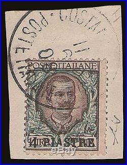 Costantinopoli, N. 6 Used Su Piccolo Framm, Raro, Cert. Ad, Ediena. Rif 589-102