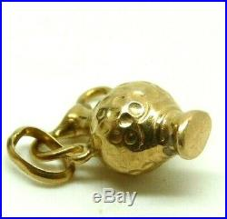 Ciondolo Piccolo Charms In Oro Massiccio 18 Kt Anfora Vintage Anni'70 Italiano