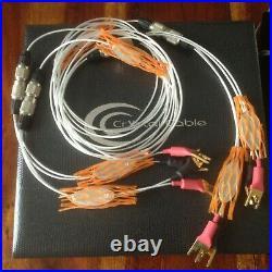 Crystal Cable Piccolo Diamond speaker cables 2x 2,5 metre + piccolo power 1m20