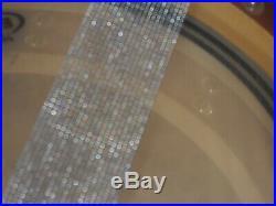 Custom Piccolo Snare- Bubinga shell withMaple Re-Rings. 14 x 4. Purple/Sparkle
