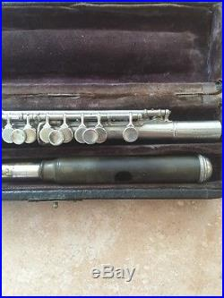 Early 1900's CG Conn LTD Piccolo & Case Nickel Finish #10322