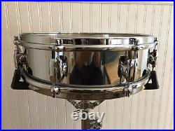 Early 1960s Premier 4x14 COB Brass Royal Ace Piccolo Snare Drum CLEAN