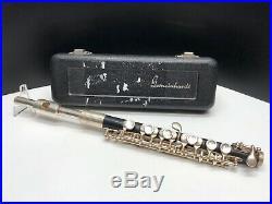 Elkhart Gemeinhardt 4PMH Piccolo Band Instrument Black Plastic Silver Plate GUC