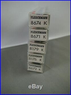 FLEISCHMANN 8674K 8671K 8179K 8176K 8672K Großraumwagen piccolo Spur N (K51)19