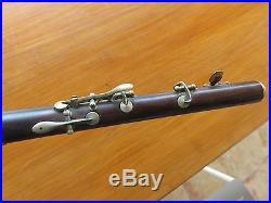 Fifre a clés, flute, piccolo, flageolet, buffet crampon, en bois dur vintage