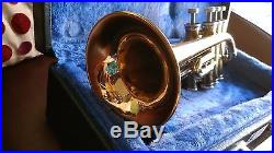 Finke Piccolo trumpet Bb/A with case and extra leadpipes