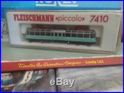 Fleischmann N Piccolo 7410 Loco Autorail Glasener Superbe En Boite Jamais Joue