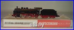 Fleischmann piccolo 1/160 Spur N Nr. 7159 Dampflok BR 38 1373 der DR OVP #8324