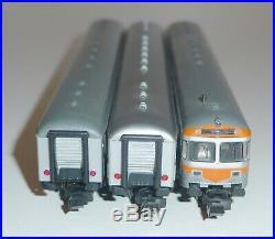 Fleischmann piccolo 8120 8121 8122 DB Nahverkehrswagen-Set 3-teilig Spur N