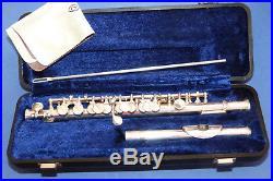 Flûte Piccolo Armstrong Elkhart Modele 290 N° 91428 Tête Argent / Bon Etat