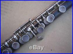 Flute Set Wooden Piccolo Otto Moennig Lepizig + Huller Schoneck