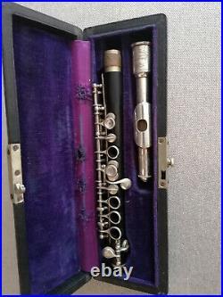 Flûte piccolo de djalma julliot à la couture boussey, système boehm
