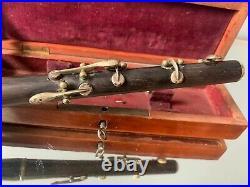 Flute piccolo instrument de musique ancien bois 6 clefs 19 century flöte flauto