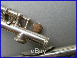 Gemeinhardt Piccolo Elkhart Ind Silver 66672 Case Instrument