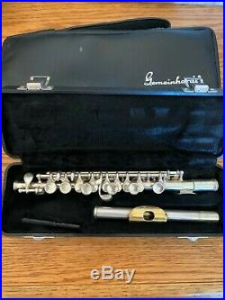 Gemeinhardt Piccolo Solid Silver with Gold Plated Lip