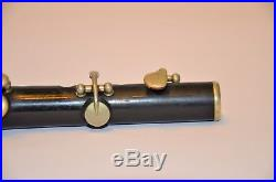 HY Potter & Co London F Piccolo/Blackwood with Silver Keys/Rings Rare Vintage