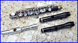 Hammig Wooden Piccolo Grenadilla Wood with Split E and 3 Headjoints