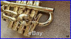 Henri Selmer Paris 365 BLF Bb/A Piccolo Trumpet, original case GAMONBRASS