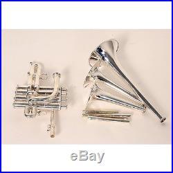 Kanstul 1520 Series Bb / A / G Piccolo Trumpet 1520-2 Silver 190839017659